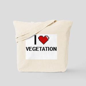 I love Vegetation digital design Tote Bag
