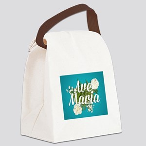 Ave Maria Canvas Lunch Bag