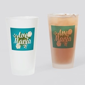 Ave Maria Drinking Glass