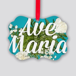 Ave Maria Picture Ornament
