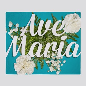 Ave Maria Throw Blanket