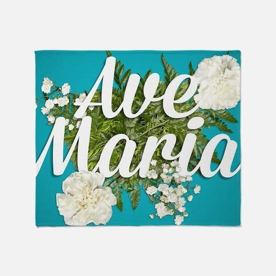 Ave Maria Throw Blanket