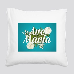 Ave Maria Square Canvas Pillow