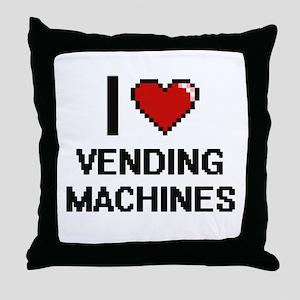 I love Vending Machines digital desig Throw Pillow