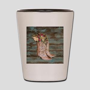 cowboy boots Shot Glass