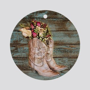 cowboy boots Round Ornament