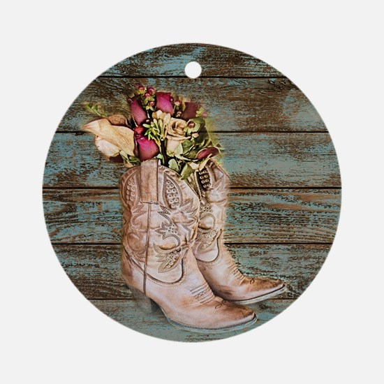 cowboy boots Round Ornament