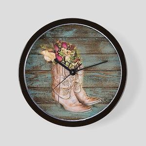 cowboy boots Wall Clock