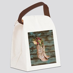 cowboy boots Canvas Lunch Bag