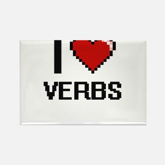 I love Verbs digital design Magnets