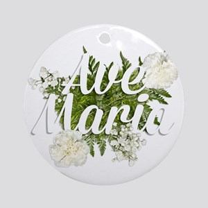 Ave Maria Round Ornament