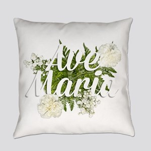 Ave Maria Everyday Pillow