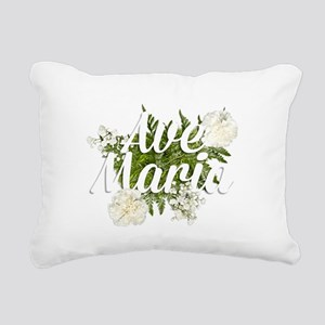 Ave Maria Rectangular Canvas Pillow