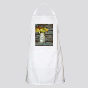 country mason jar flower  Apron