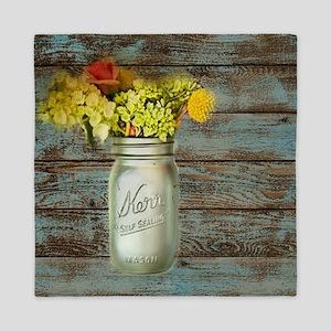 country mason jar flower  Queen Duvet