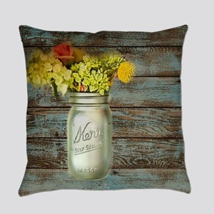 country mason jar flower  Everyday Pillow