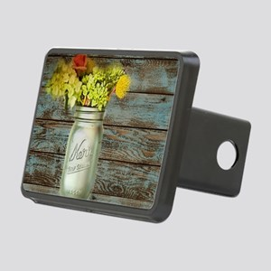 country mason jar flower  Rectangular Hitch Cover