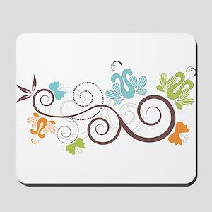 Modern Floral Pattern Decor Mousepad