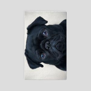 Pug Face Area Rug