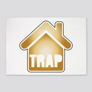 Trap house Gold 5'x7'Area Rug