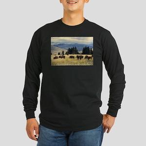 National Parks Bison Herd Long Sleeve T-Shirt