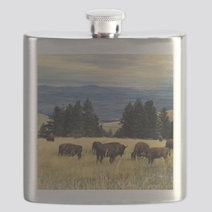 National Parks Bison Herd Flask