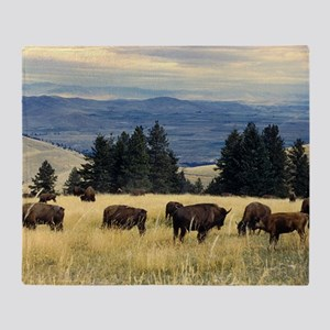 National Parks Bison Herd Throw Blanket