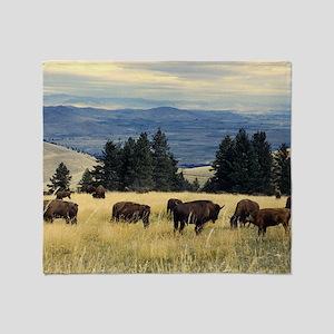 National Parks Bison Herd Throw Blanket