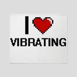 I love Vibrating digital design Throw Blanket