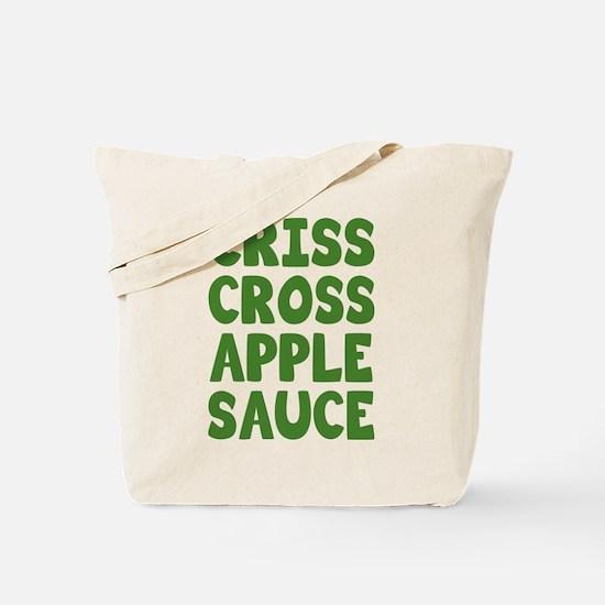 Criss Cross Applesauce Tote Bag