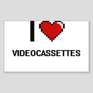 I love Videocassettes digital design Sticker