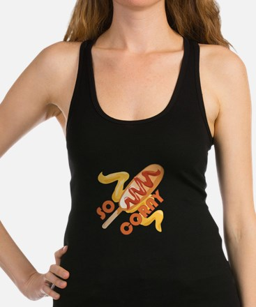 So Corny Racerback Tank Top
