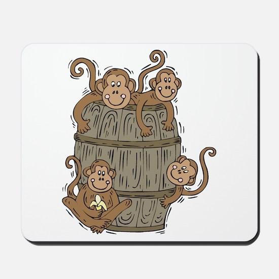 Cute Barrel of Monkeys Mousepad