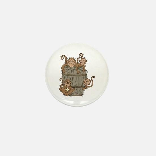 Cute Barrel of Monkeys Mini Button
