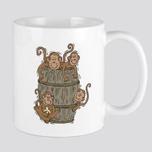 Cute Barrel of Monkeys Mug