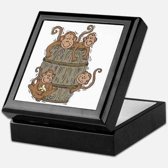 Cute Barrel of Monkeys Keepsake Box