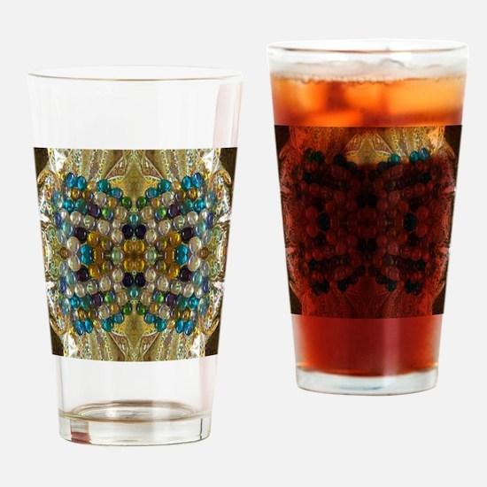 Beaded Pearl Essence  Drinking Glass