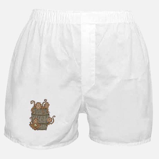 Cute Barrel of Monkeys Boxer Shorts