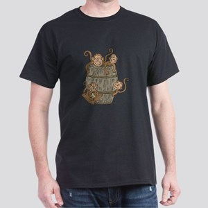 Cute Barrel of Monkeys Dark T-Shirt