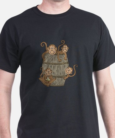 Cute Barrel of Monkeys T-Shirt