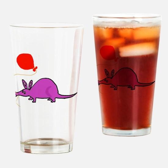 Funny Purple Aardvark Drinking Glass