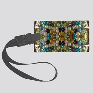 Beaded Pearl Essence Large Luggage Tag