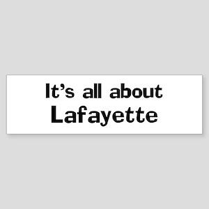 About Lafayette Bumper Sticker