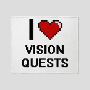 I love Vision Quests digital design Throw Blanket