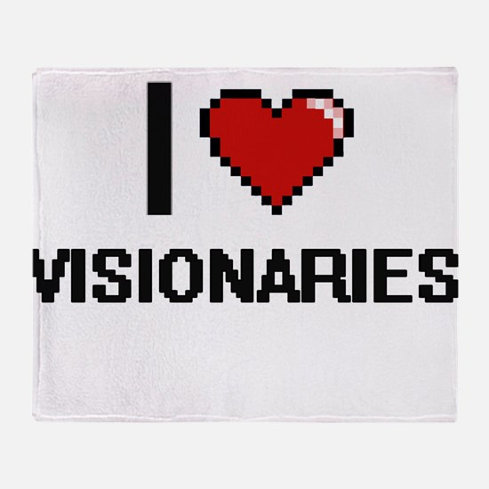I love Visionaries digital design Throw Blanket