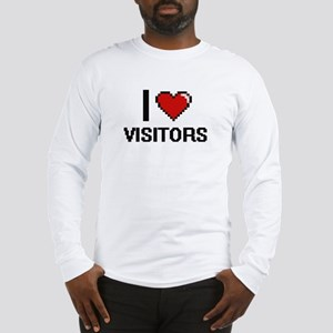 I love Visitors digital design Long Sleeve T-Shirt