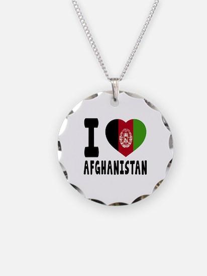 I Love Afghanistan Necklace