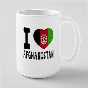 I Love Afghanistan Large Mug