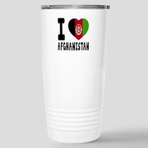 I Love Afghanistan Stainless Steel Travel Mug