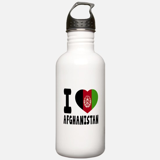 I Love Afghanistan Sports Water Bottle